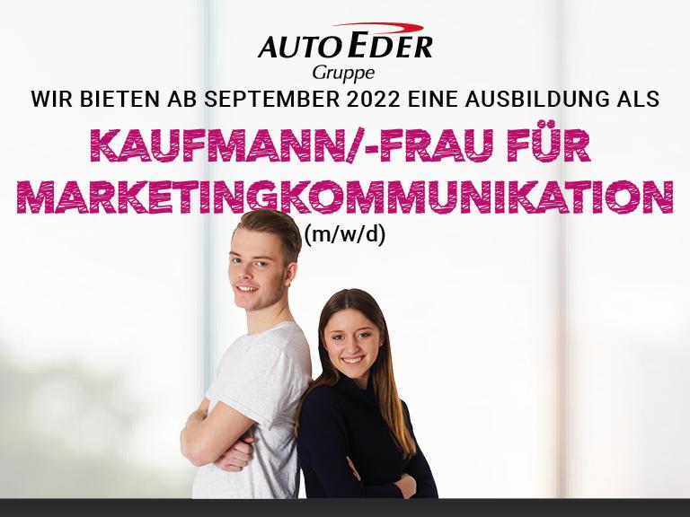 Kaufmann / -frau für Marketingkommunikation (m/w/d) Ausbildungsstart 2022