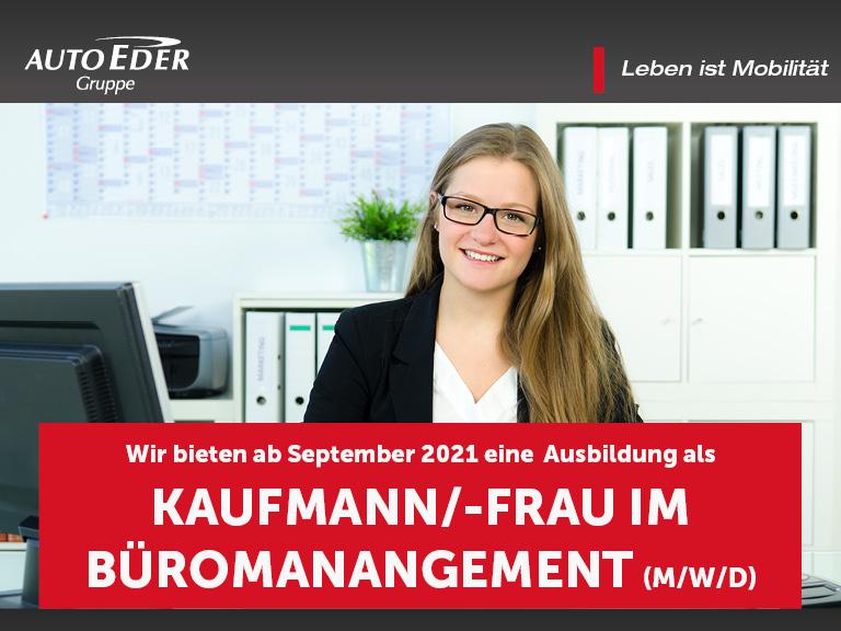 Kaufmann / -frau für Büromanagement (m/w/d) Ausbildungsstart 2020