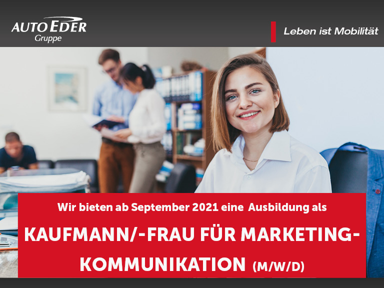 Kaufmann / -frau für Marketingkommunikation (m/w/d) Ausbildungsstart 2020