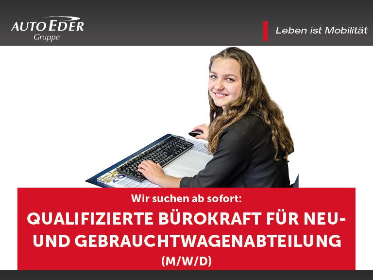 Qualifizierte Bürokraft (m/w/d) für die Neu- und Gebrauchtwagenabteilung