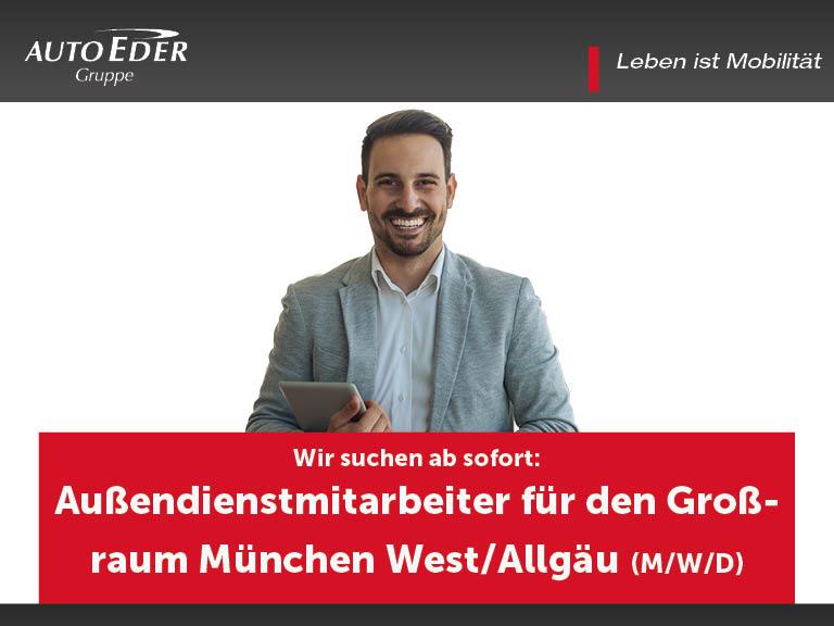 Außendienstmitarbeiter für den Großraum München West/Allgäu (m/w/d)