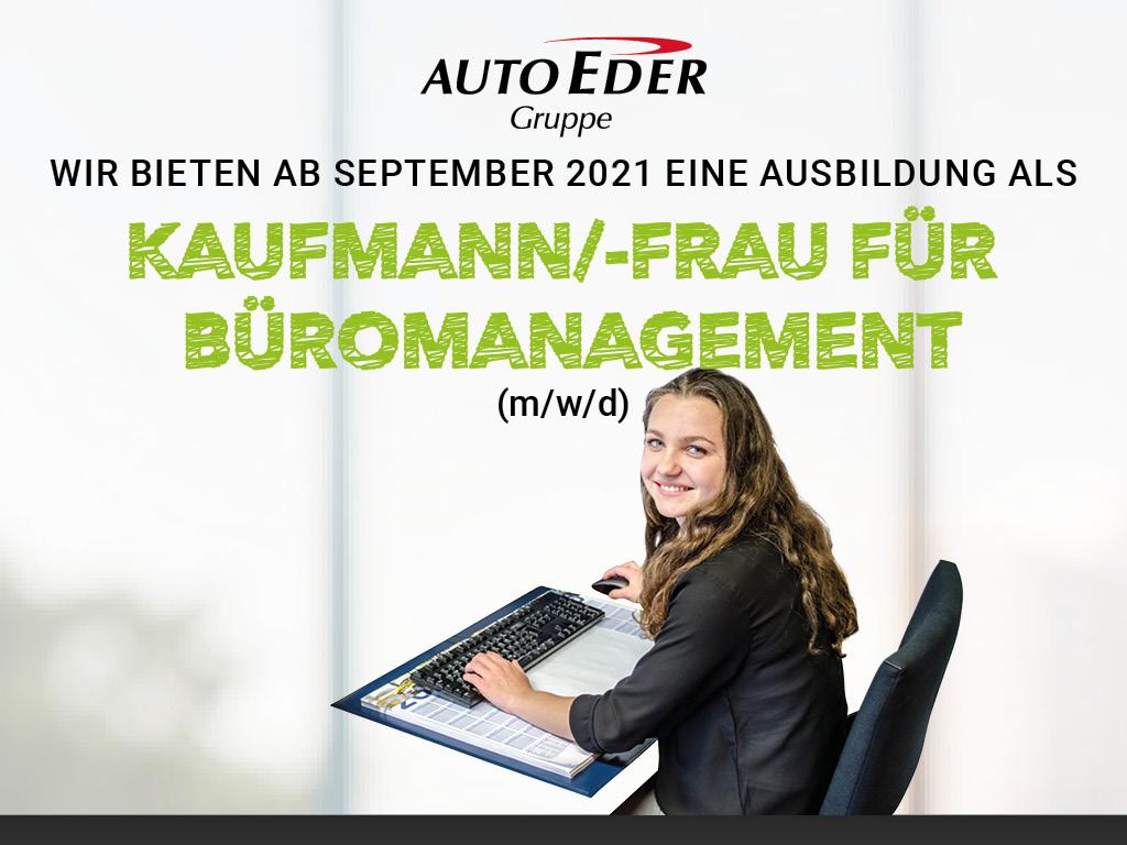 Kaufmann / -frau für Büromanagement (m/w/d) Ausbildungsstart 2021