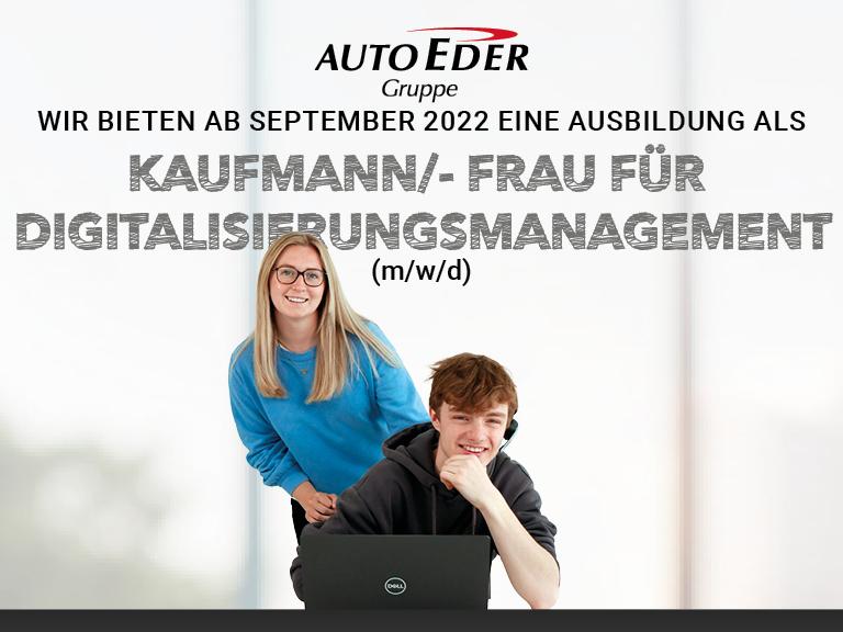 Kaufmann /-frau für Digitalisierungsmanagement (m/w/d) Ausbildungsstart 2022